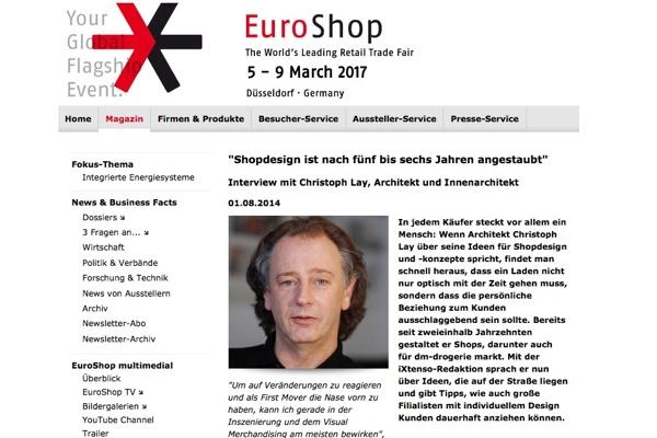 Interview mit Christoph Lay auf euroshop.de