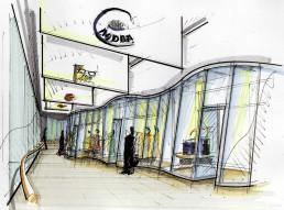 Studie fuer das Einkaufszentrum Haderner Stern durch LAY InnenArchitekten