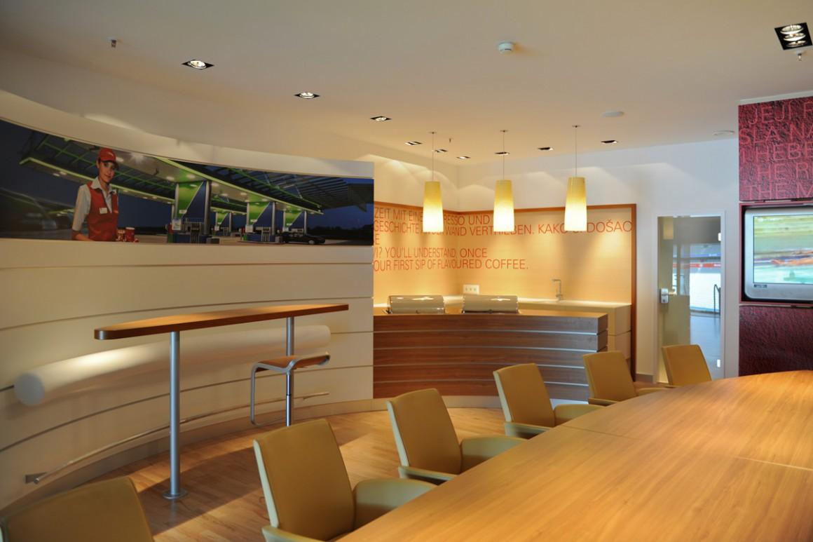 Gestaltung der Lounge in der Allianz-Arena München